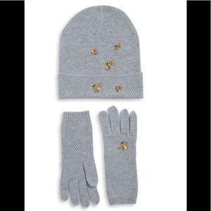 BGBGMAXAZRIA Two-Piece Beanie and Gloves Set